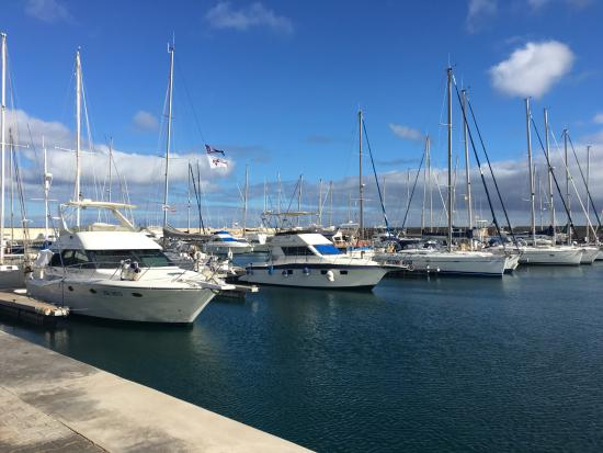 The marina at Puerto Calero - Picture of Walk from Puerto del Carmen to Puert...