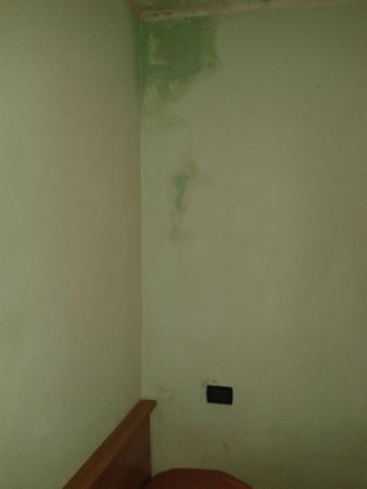 Hotel Villa Adriana : Camere piccole piene di polvere e muffa, mangiare freddo, scotto e sporco! Asciugamani sporchi,