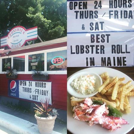 Brunswick Diner: Its a small place on right side of rte ! pleasant st. If you miss it ~ turn around its worth it