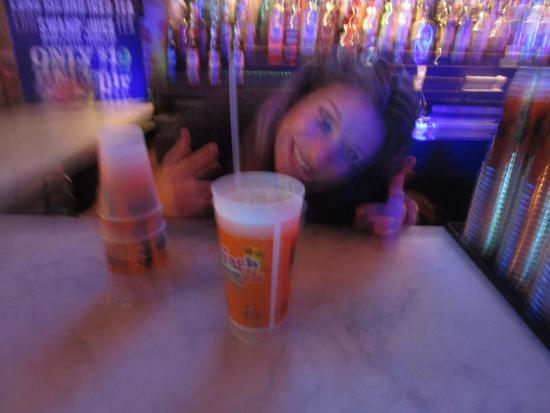 the swamp bartender getting crazy with swamp juice picture of