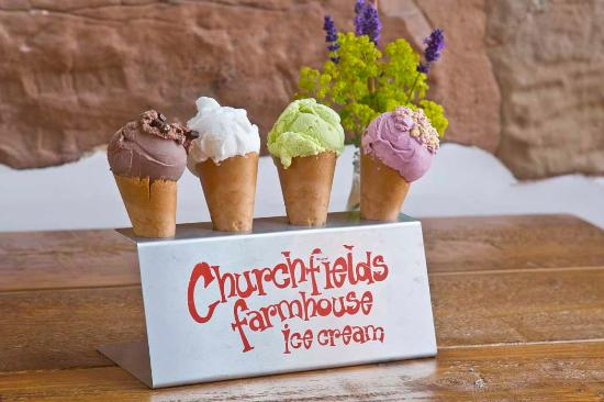 Churchfields Farmhouse Ice Cream: Ice cream made right here on our farm in Droitwich Spa.