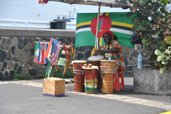 drummer caraibico picture of old market square roseau