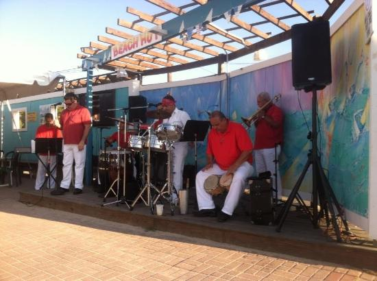 Meschutt Beach Hut The Band Setting Everything Up Its Salsa Time Latin Music