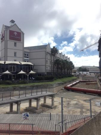 City Lodge Hotel V&A Waterfront: Current view of the front of the hotel (18 March 2016)