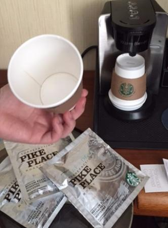 Sheraton Tribeca New York Hotel: used cup for coffee?