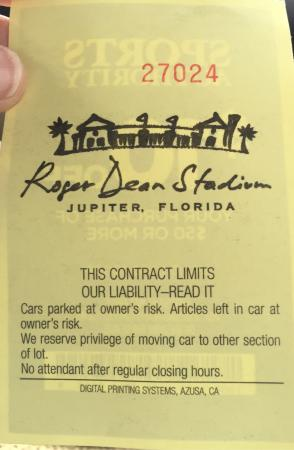 Jupiter, FL: Parking pass