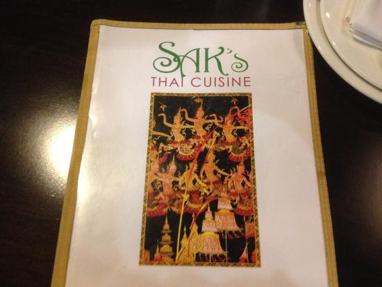 Sak's Thai Cuisine : Sak's Thai - menu