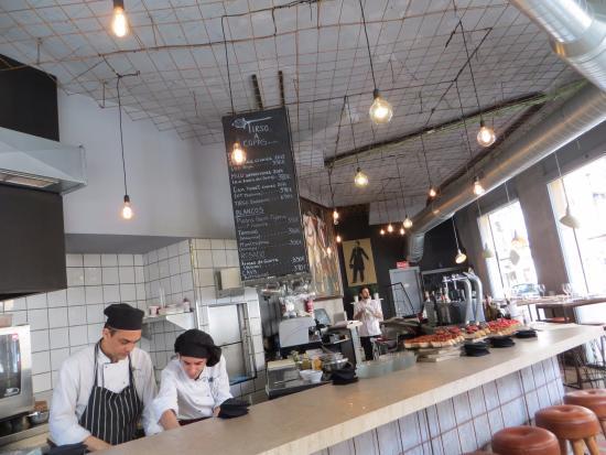 Fusion Design Keuken : Zicht op de keuken bild von tirso restaurante & tapas palma de