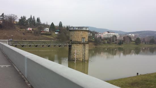 Luhacovice, República Checa: přehrada kousek od hotelu Harmonie -Luhačovice