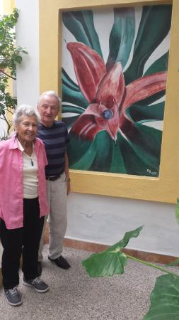 Hacienda Alemana: The artists that created this beautiful painting. It was an honor to meet you two.