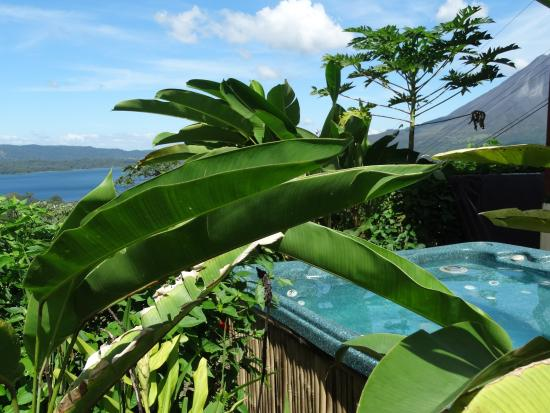 Essence Arenal Boutique Hostel: Our Jacuzzy with the great views