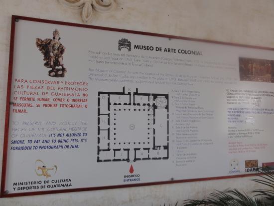 Museo de Arte Colonial : cartel de entrada