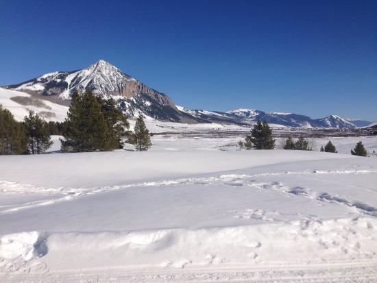 "Crested Butte Nordic Center: Mt Crested Butte as seen from ""Pooch's Paradise"""