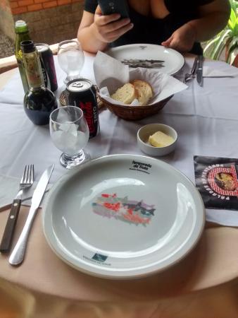 Paladar da Montanha: decoraçao da mesa