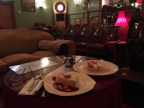 Avalon: Dessert taken in the Cocktail Bar Lounge area