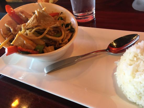 Ripon, CA: My Thai Cuisine Pad Basil Lunch Set