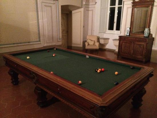 Coazzolo, Italia: Coolest and maybe biggest pool table ever