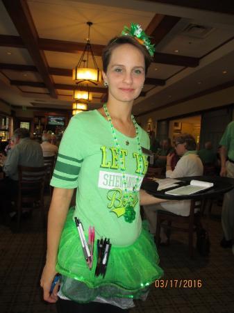 Stone Creek Golf Club : Our 'Irish' server...Kristy