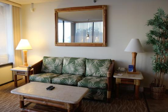 Kahana Beach Resort: Living room
