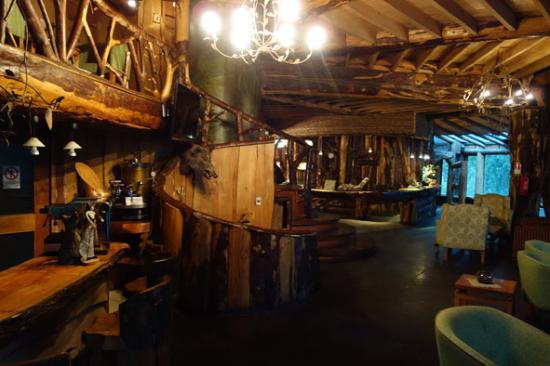 Huilo Huilo Montana Magica Lodge: Gemeenschappelijke ruimte en bar