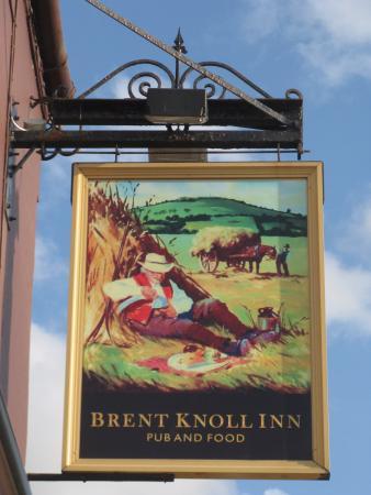 East Brent, UK: Pub sign at Brent Knoll Inn