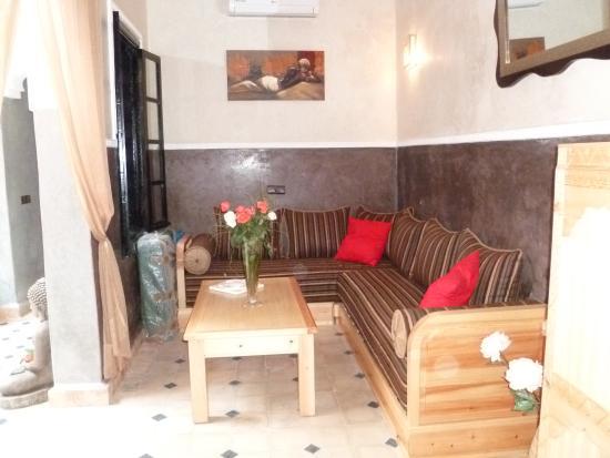 Riad etoile ocre b b marrakech maroc voir les tarifs for Salon zen rabat tarifs