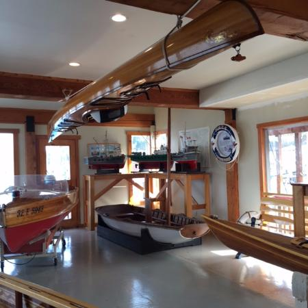 Cowichan Wooden Boat Society: The last room with several boats displayed