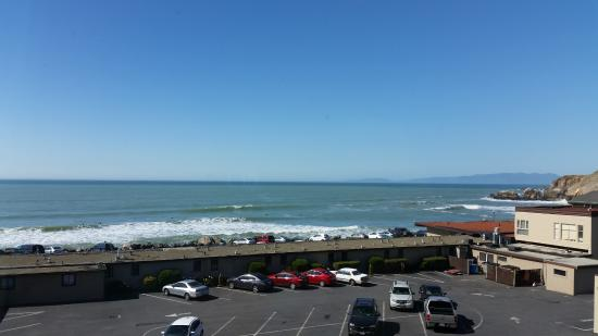 Holiday Inn Express Hotel Suites Pacifica View From Ocean Front Room Overlooking And