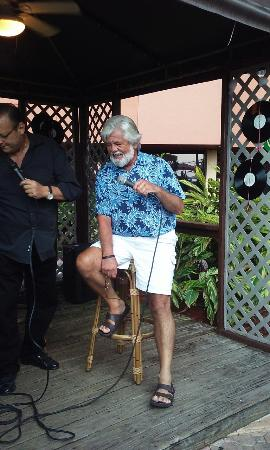 Lighthouse Cove Tiki Bar: The singer thought my husband looked like Kenny and invited him up on stage.
