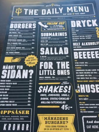 hells burger borås meny