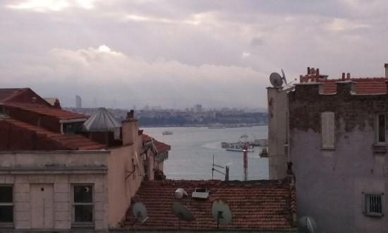World House Istanbul: View from room 10 looking at Asia over the Bosphorus