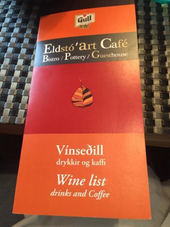 Eldsto Art Cafe / Bistro / Pottery / Guesthouse : Menu Cover