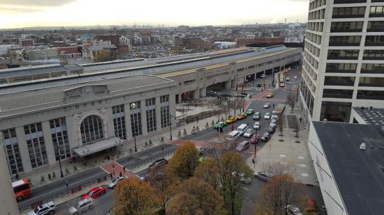 Hilton Newark Penn Station: Penn Station from room 2010