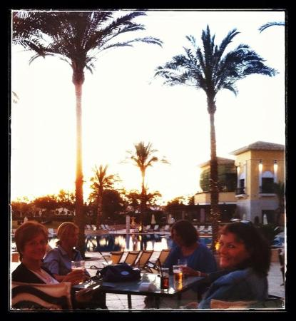 Campo de Golf Mar Menor: Sitting at the Clover watching the sun set