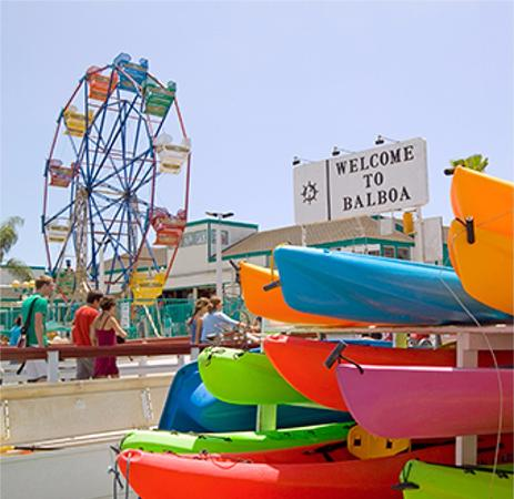 Balboa Fun Zone Peninsula In Newport Beach Ca On The