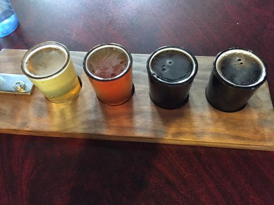Gillette, WY: Tasting flight. Silly Yak GFA, Monument Ale, Locomotive Brown, Tall Canyon Porter.