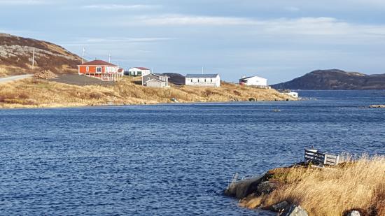 Quirpon Island, Καναδάς: The Big Blow B & B, looking north.