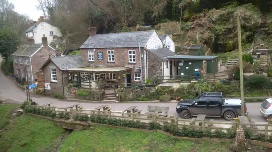 The Boat Inn: The pub from the old railway bridge