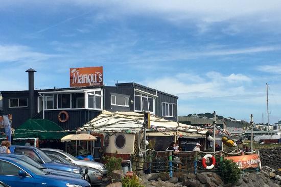 Νέο Πλίμουθ, Νέα Ζηλανδία: Restaurant deck area