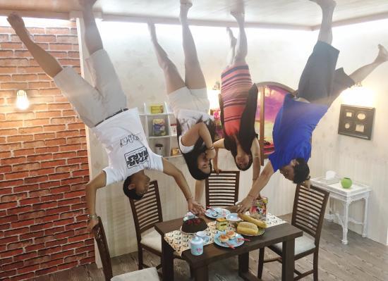upside down world dining room