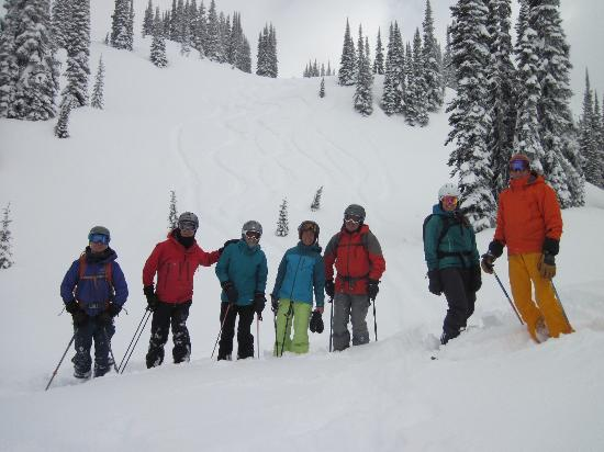 Great Northern Snowcat Skiing: Brent (right), the owner and operator, leads the group