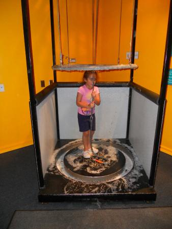 ScienceWorks Hands-on Museum: 8-year old Natalie prepares to build a giant bubble.