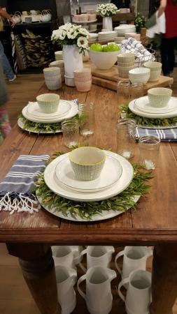 Lovely Springtime table setting ~ so representative of Joanna\'s ...