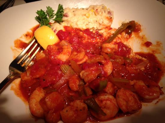 shrimp creole and grits with creamy andouille cheese grits rh tripadvisor com pappadeaux seafood kitchen beaumont texas