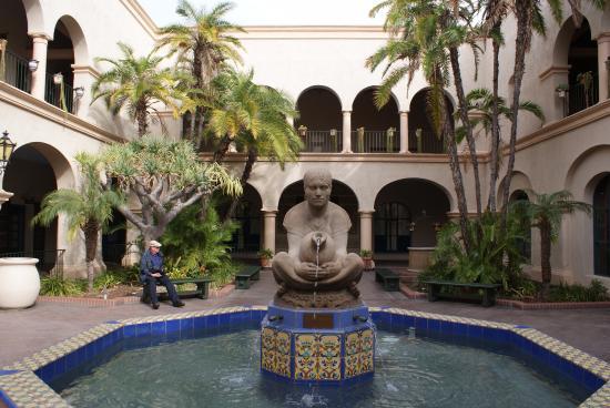 The Prado At Balboa Park Fountain In Courtyard Restaurant