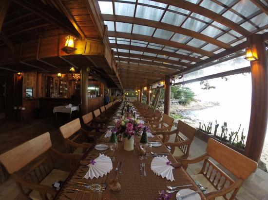 beautiful set up for our wedding dinner picture of santhiya koh rh tripadvisor ie