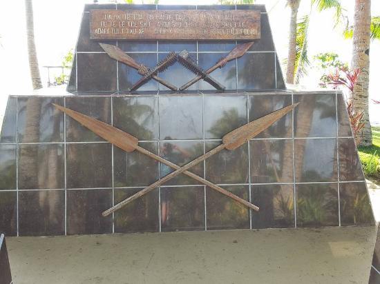 Cape Fatuosofia, Samoa: A monument