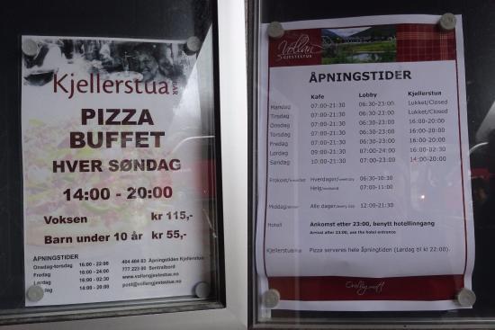 Nordkjosbotn, Norway: 店頭にあったメニュー