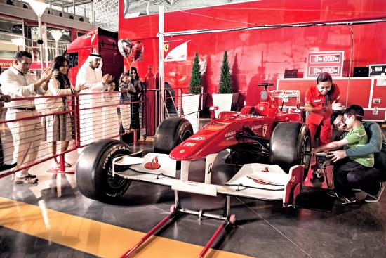 Gray Line Emirates: Ferrari World Abu Dhabi Paddock
