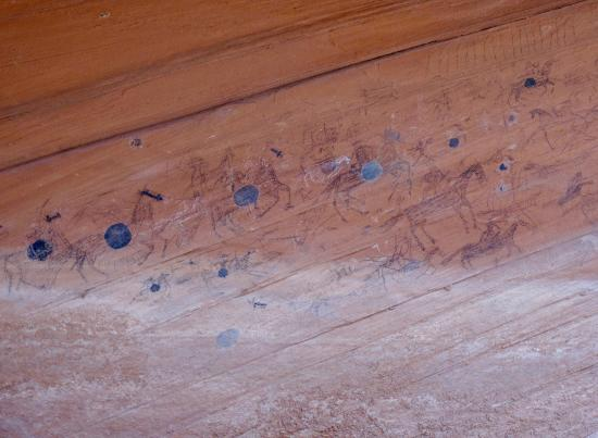 Canyon de Chelly National Monument: Pictographs of Spanish Cavalry ca 1650